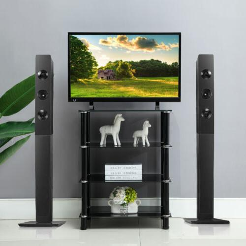 """32""""-70"""" Tempered Glass TV Stand Entertainment"""