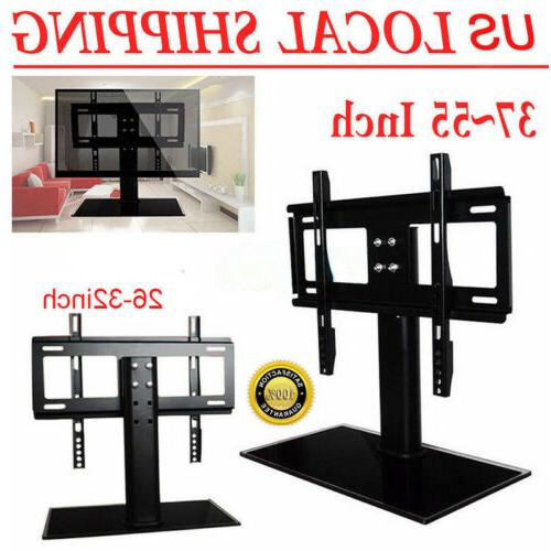 adjustable universal tv stand pedestal base mount