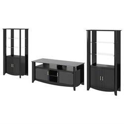 Aero 3 Piece Entertainment Center Set, TVs 43-60, Cabinet, M