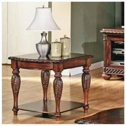 Antoinette End Table in Multi-Step Rich Cherry