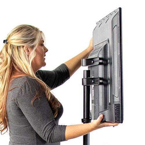 "VIVO Artistic TV Display Adjustable Swivel and Base for 65"""