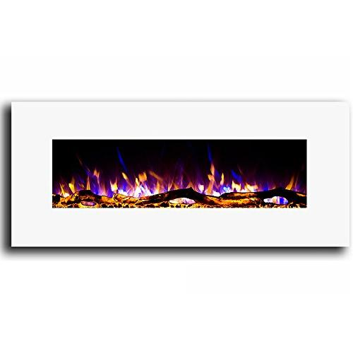 "Regal White 50"" Electric Better Than Gas Logs, Fireplace Log Sets, Gas Space Heaters, Propane"