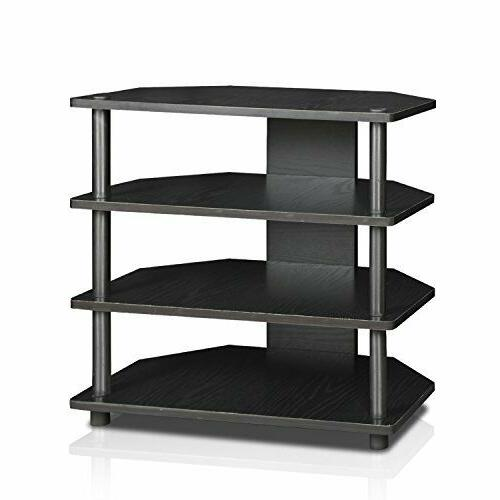 FURINNO 15093BW/BK Turn-N-Tube Easy Assembly 3-Tier Petite T