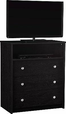 Essential Home Belmont Highboy TV Stand - Black