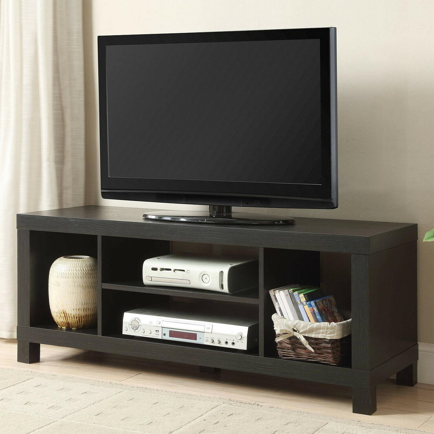 """Black 45"""" Wood TV Stand Entertainment Center Media Console S"""