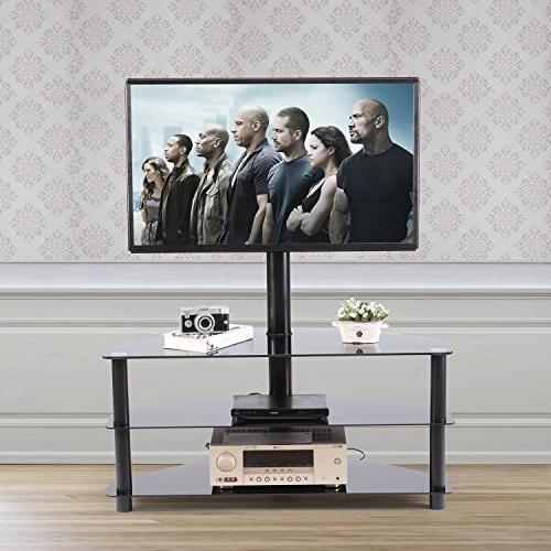 Rfiver Corner Floor TV Mount Bracket to 65 LCD, Plasma Tempered Audio