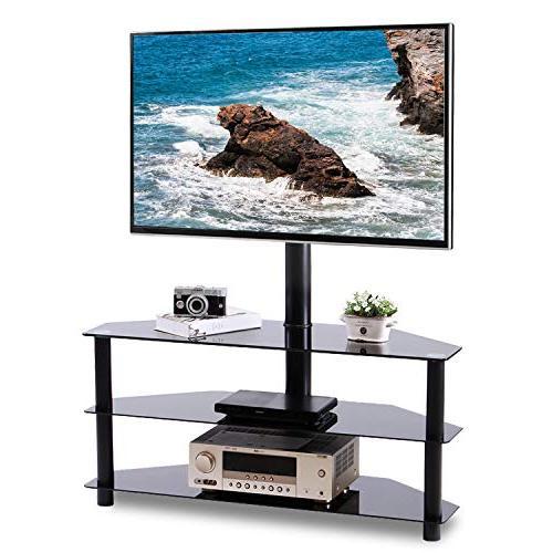 black corner floor tv stand