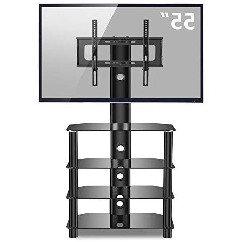 TAVR 4-Tiers TV Stand Audio Shelf and Adjustable Bracket 32 42 47 LED Curved
