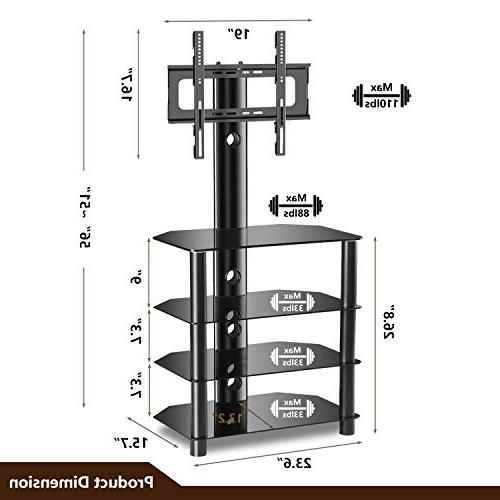 TAVR TV Audio Shelf and Adjustable Suit for 32 50 LED OLED Curved TVs