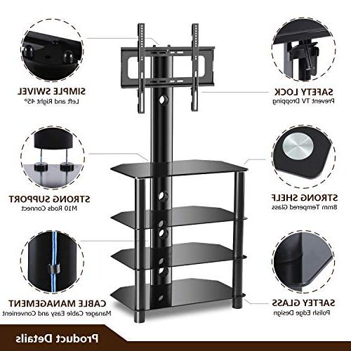 TAVR 4-Tiers Media Component TV Stand with Mount Audio Adjustable Bracket 32 37 47 50 LED Curved