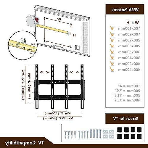 TAVR Component TV Audio Shelf and Adjustable Bracket for 32 37 42 50 inch LCD, LED OLED Curved