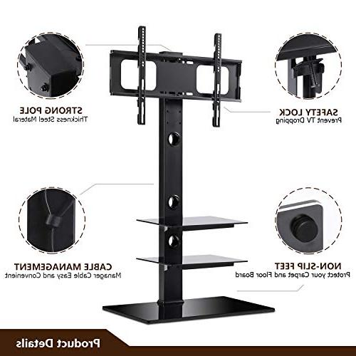 Stand with Swivel Bracket 32 to 65 inch Screen Shelves