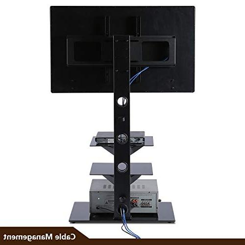 Rfiver Stand with Swivel Bracket for to inch Screen Height and Shelves