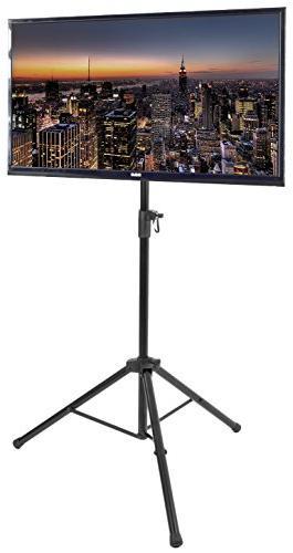 black tripod tv display portable