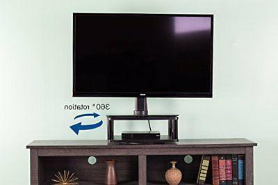 "VIVO Black TV Rotating Tabletop 42"" Screen"