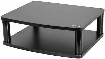 black tv display rotating tabletop stand swivel