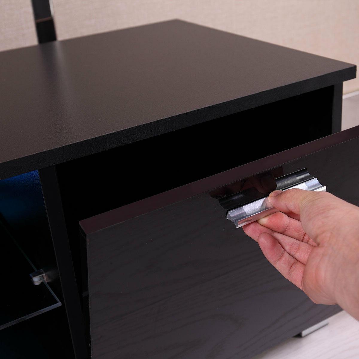 Black TV Console Furniture High GlossTV Stand