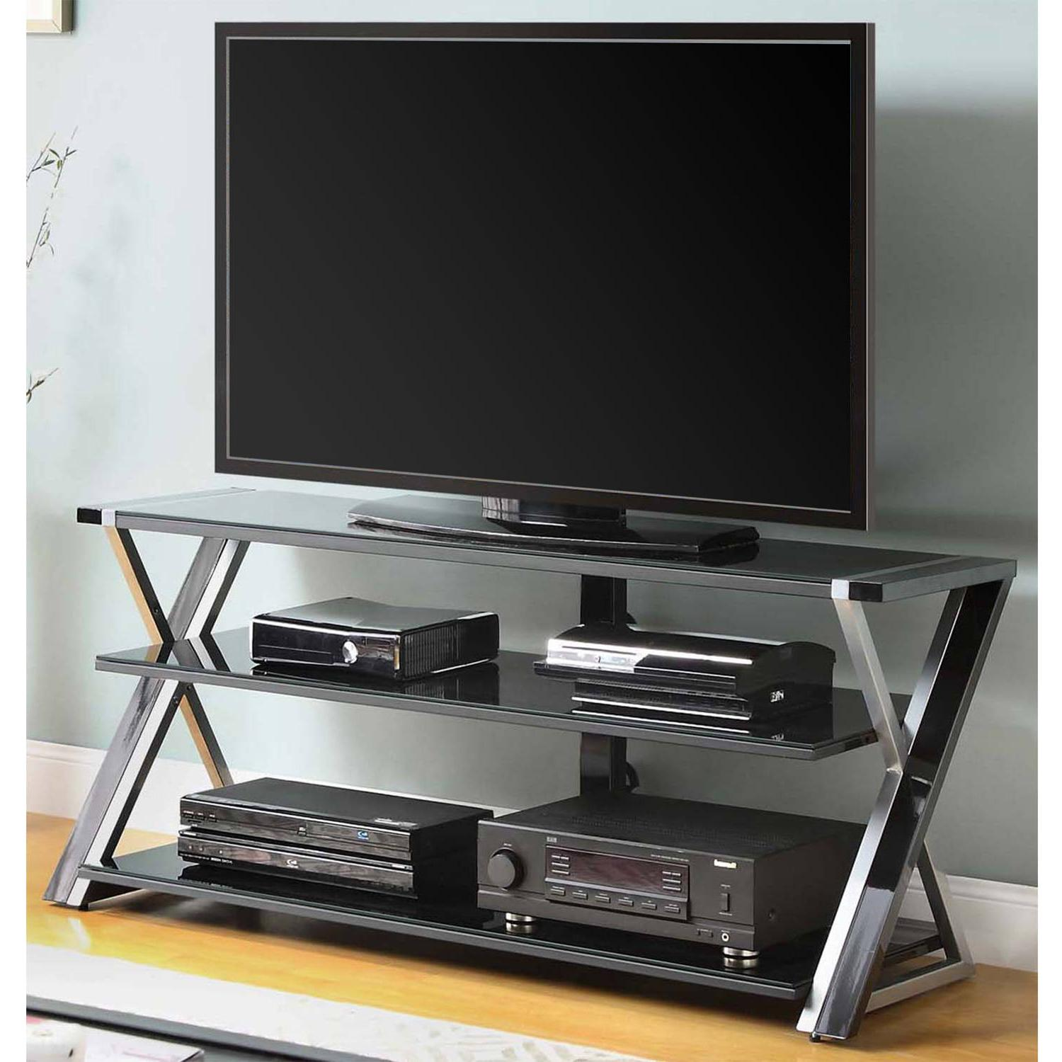 black tv stand for 65 flat panel