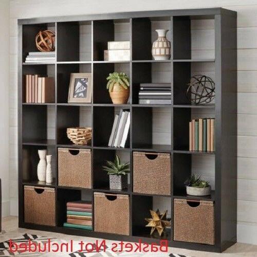 25 Cube Organizer Room Divider Bookcase Living Room Furnitur