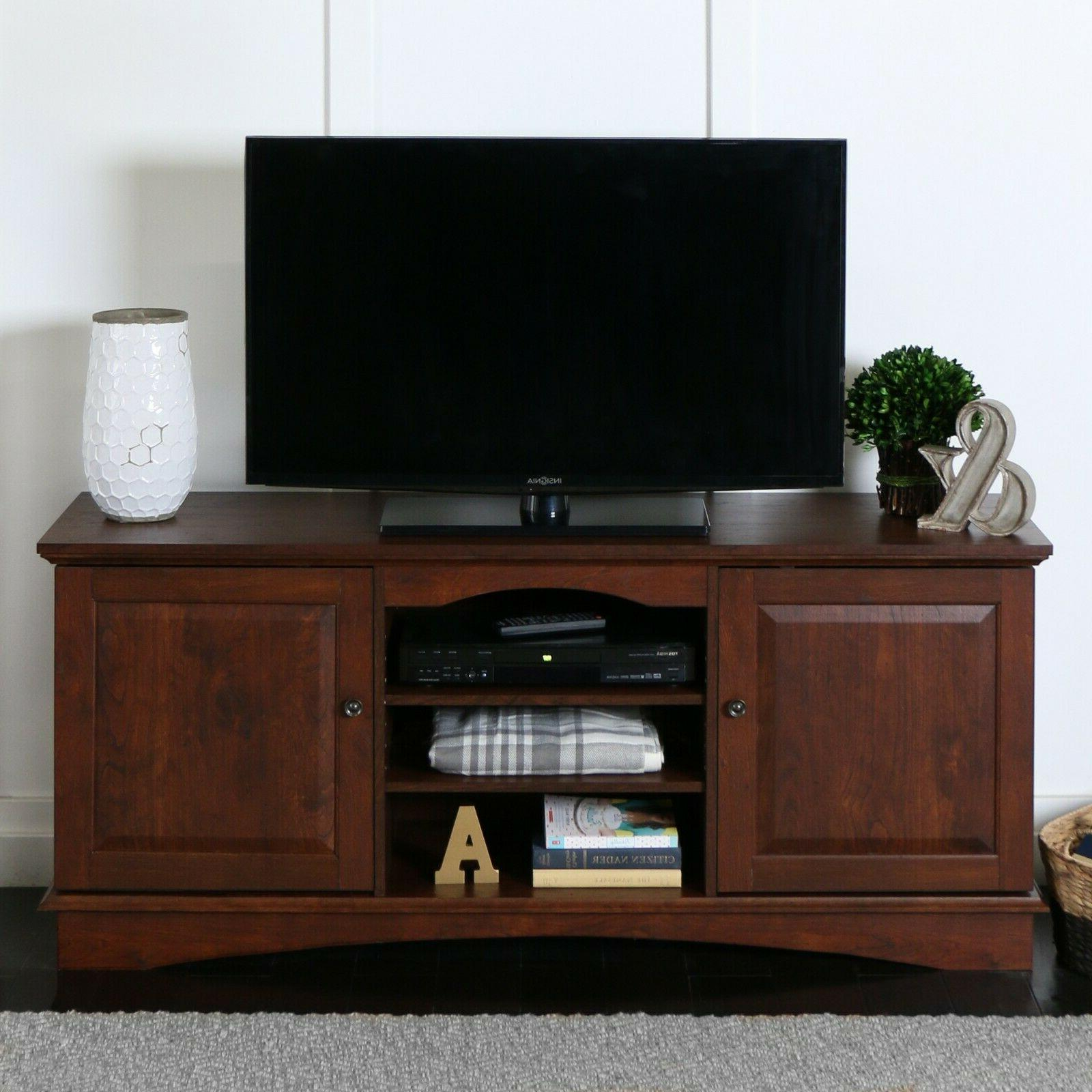 brown tv stand for tvs up to