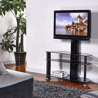 "Cantilever Tempered Glass TV Stand w/Bracket for 32""-55"" Plasma LCD"