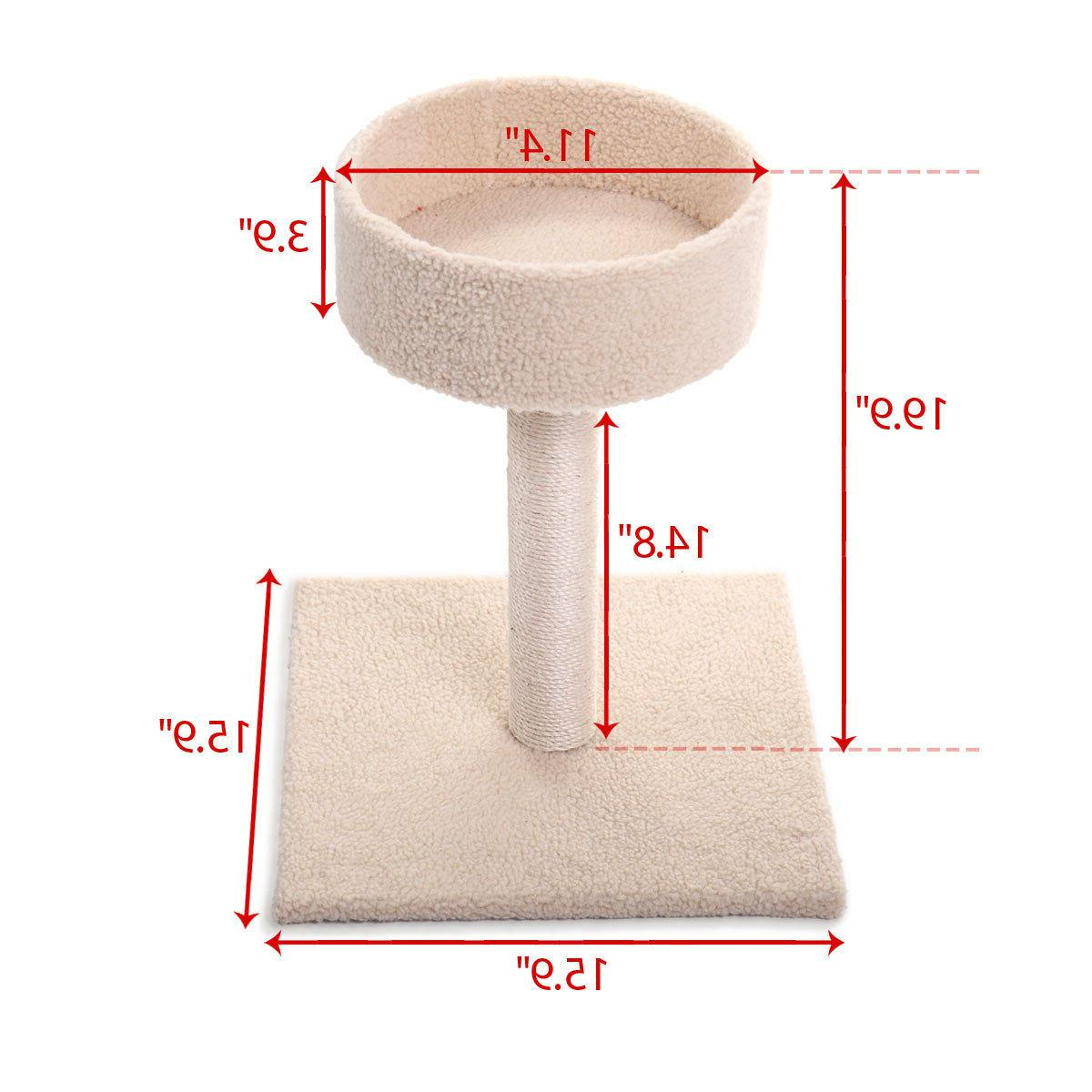 """20"""" Cat Condo Furniture Post Pet Kitty Play House"""