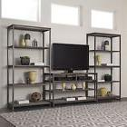 Entertainment Center 3 PC  Tv Media Console Table Towers Boo