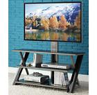 Small Entertainment Center TV Stand with Mount for Flat Pane