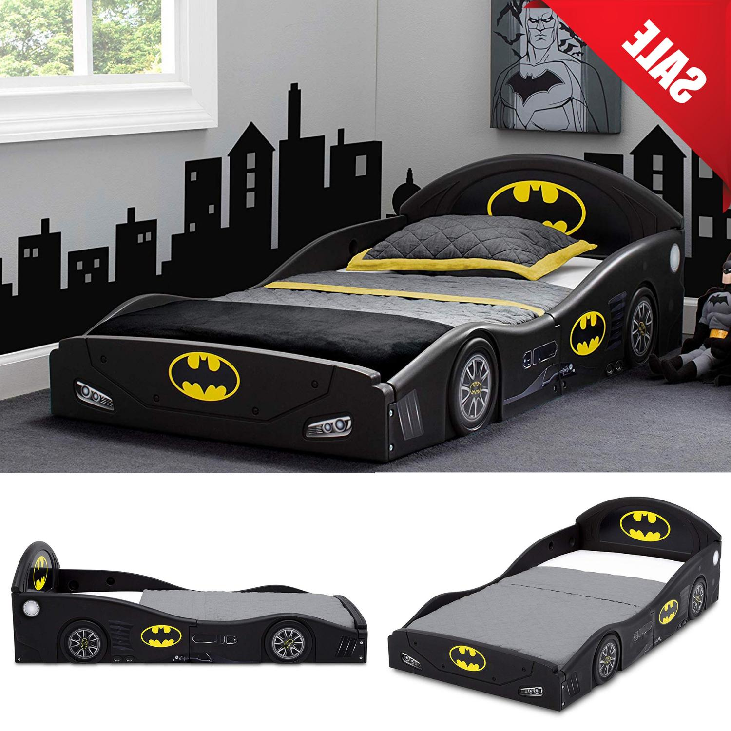 Childs Bed Frame Kids Bedroom Furniture Boys Batmobile Car W