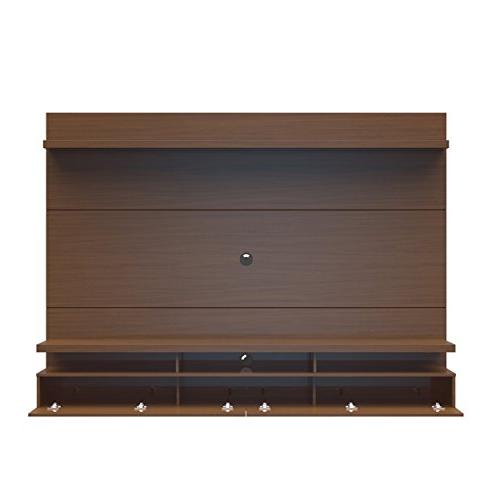 """Manhattan Collection Entertainment Center with TV Mount Theater Display, 86.5"""" x D 63.4"""" H, Nut Brown"""