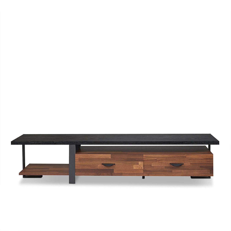 Coalpit Heath Modern TV Stand Quality Contemporary Furniture Walnut