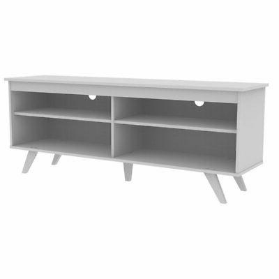 contemporary 58 tv stand in white