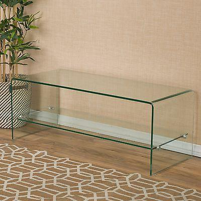 Contemporary Glass Entertainment Console Stand with