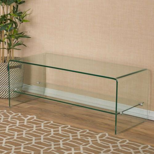 contemporary glass tv console stand