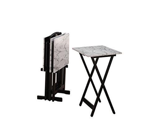 contemporary tray table set