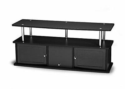 Convenience Concepts Designs2Go TV Stand with 3 Cabinets, Bl