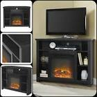 Corner Electric Fireplace Tv Stand Heater Media Console For