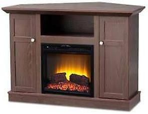 corner fireplace entertainment center elec tv stand