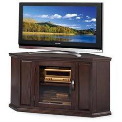 Corner TV Cart in Chocolate Oak Finish