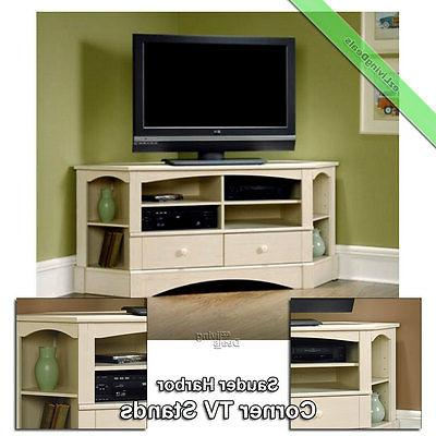"Sauder Corner TV Stand 60"" Console Table Stands for Flat Scr"