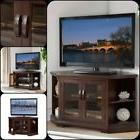 50 Inch Corner TV Stand Solid Wood Flat Screen Furniture Con