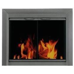 Pleasant Hearth CR-3400 Craton Fireplace Glass Door, Gunmeta
