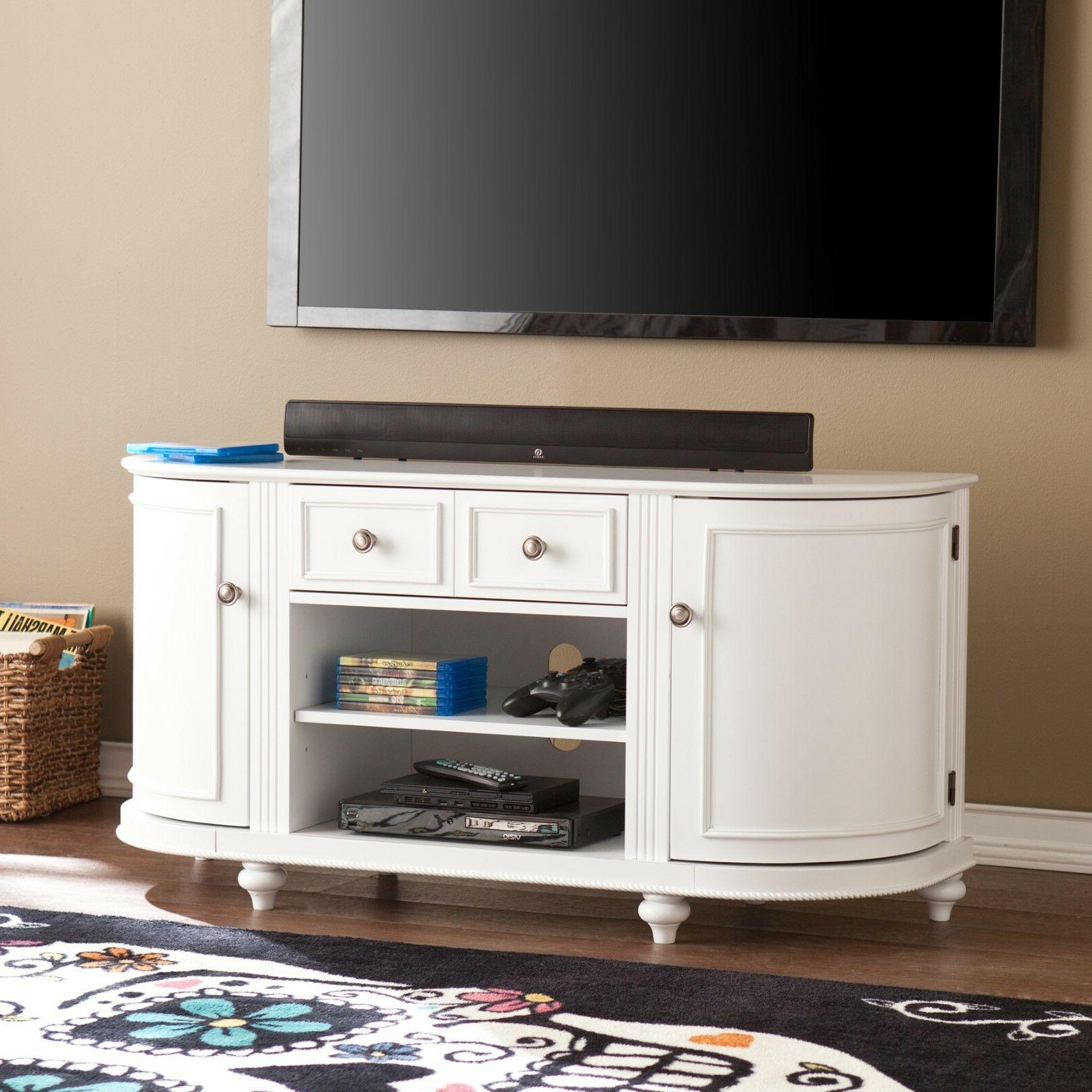 cts24938 white tv media stand with brushed