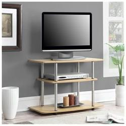 Designs2Go 3 Tier TV Stand Light Oak
