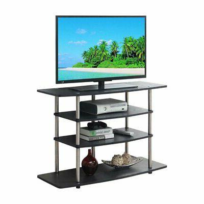 designs2go no tools wide highboy tv stand