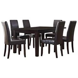 7Pc Dining Set in Tanners Brown Finish