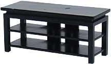 Dollhouse Miniature Black TV Stand