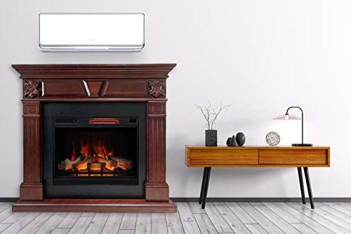 DragonBlaze Electric Premium - Cherry Electric with 5200 BTU Heater - Cherrywood Electric Fireplace Heater