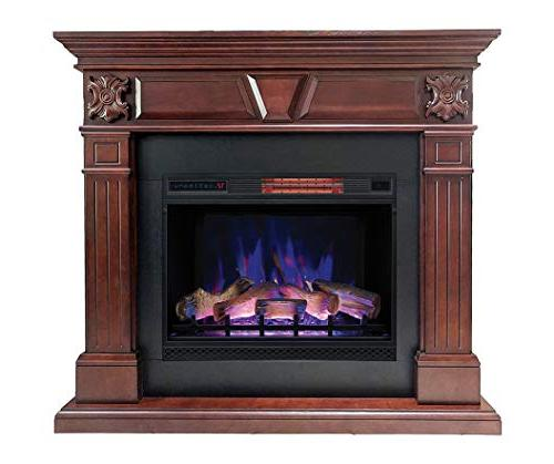 DragonBlaze Electric Fireplace Cherry with 5200 Heater Large, Cherrywood Electric Fireplace Heater