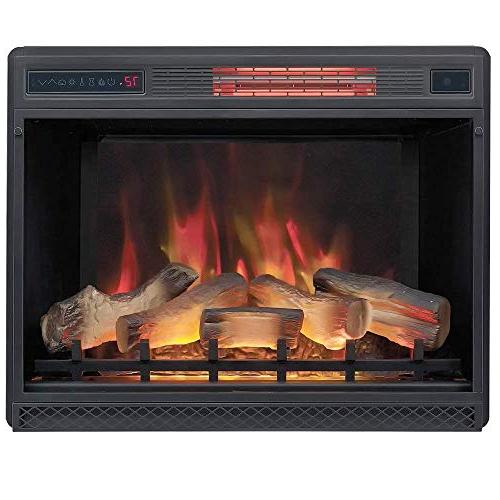 DragonBlaze Electric Fireplace Premium Mantel - Cherry with Infrared Heater - Large, Electric Fireplace Heater